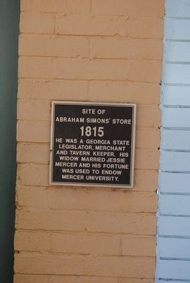 Site of Abraham Simon's Store Marker image. Click for full size.