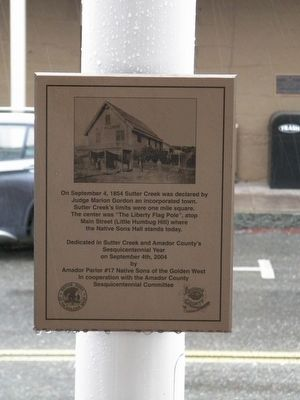 Sutter Creek Marker image. Click for full size.