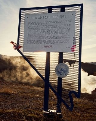 Steamboat Springs Marker image. Click for full size.