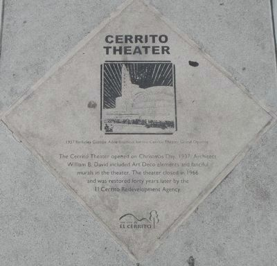 Cerrito Theater Marker image. Click for full size.