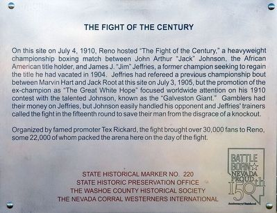 The Fight of the Century Marker image. Click for full size.
