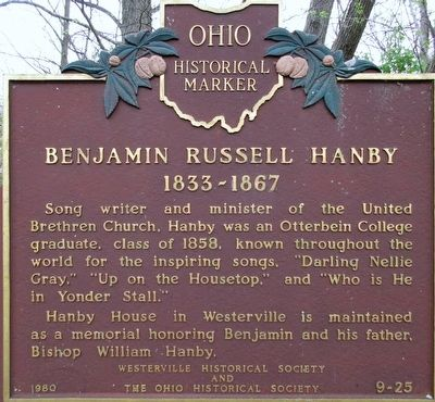 Benjamin Russell Hanby Marker image. Click for full size.