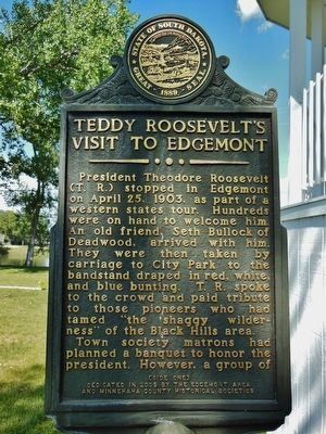 Teddy Roosevelts's Visit to Edgemont Marker image. Click for full size.