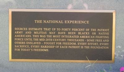 Black Patriots Monument<br>The National Experience image. Click for full size.