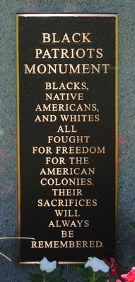 Black Patriots Monument Marker image. Click for full size.