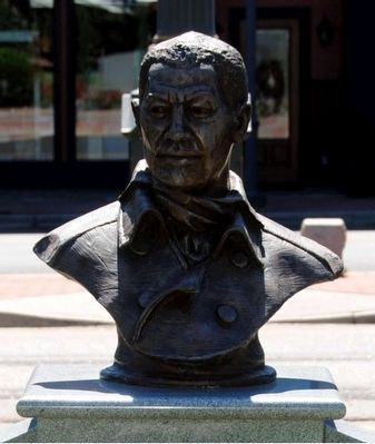 Black Patriots Monument<br>Bust of Austin Dabney image. Click for full size.