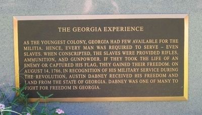Black Patriots Monument<br>The Georgia Experience image. Click for full size.