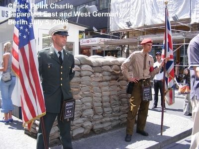Remains of the Berlin Wall-Check Point Charlie image. Click for full size.