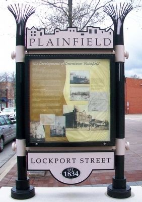 The Development of Downtown Plainfield Marker (east side) image. Click for full size.