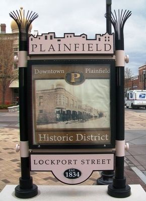 The Development of Downtown Plainfield Marker (west side) image. Click for full size.