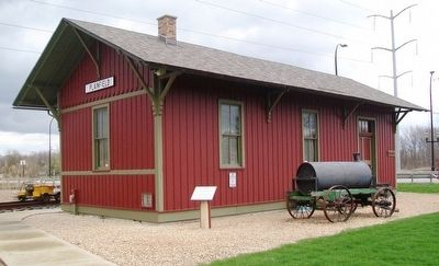 E J & E Depot No. 4 and Marker image. Click for full size.