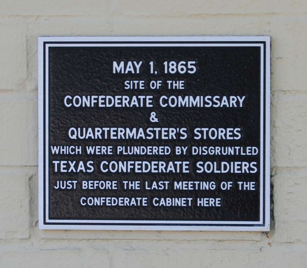 Site of the Confederate Commissary & Quartermaster