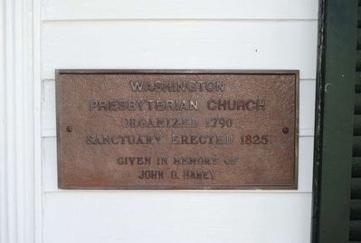 Washington Presbyterian Church Cornerstone image. Click for full size.