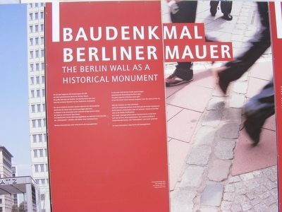 Baudenkmal Berliner Mauer Marker image. Click for full size.