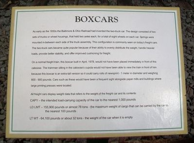 Boxcars Marker image. Click for full size.