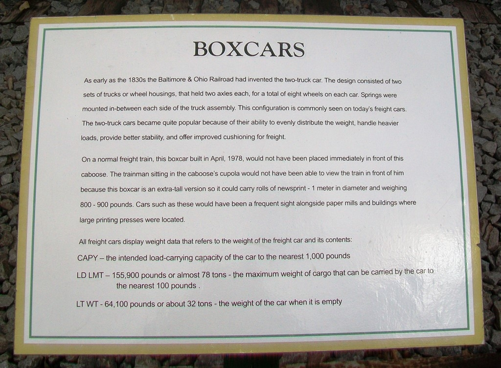 Boxcars Marker