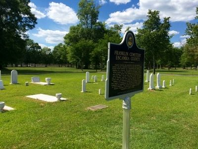 Franklin Cemetery & Marker image. Click for full size.