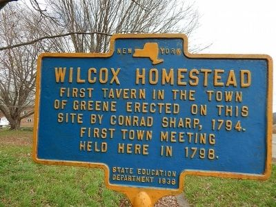 Wilcox Homestead Marker image. Click for full size.