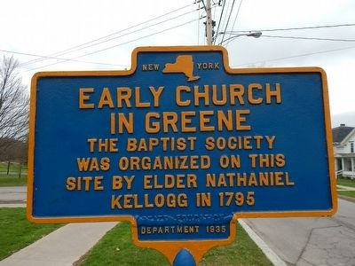 Early Church In Greene Marker image. Click for full size.