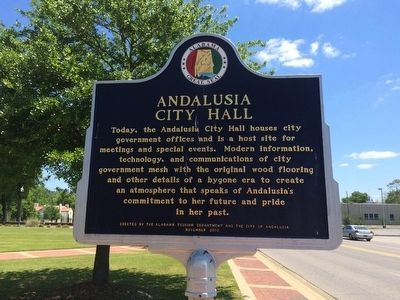 Andalusia City Hall marker. image. Click for full size.