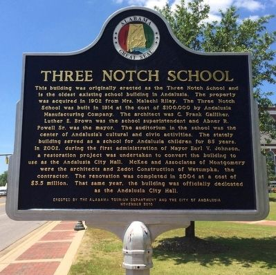 Three Notch School Marker image. Click for full size.