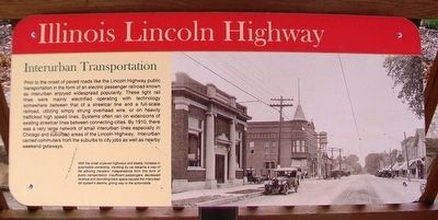 Interurban Transportation Marker image. Click for full size.