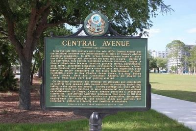 Central Avenue Marker restored to original location image. Click for full size.