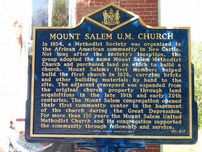 Mount Salem U.M. Church Marker image. Click for full size.