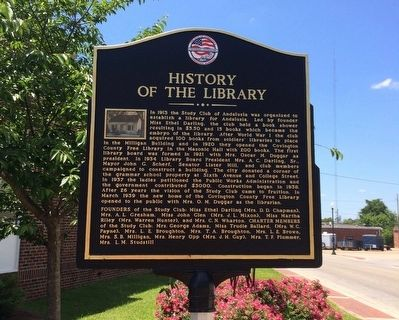 History of the Library Marker image. Click for full size.
