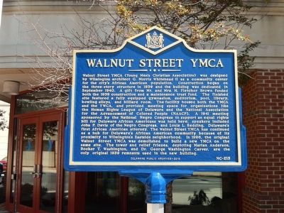 Walnut Street YMCA Marker image. Click for full size.