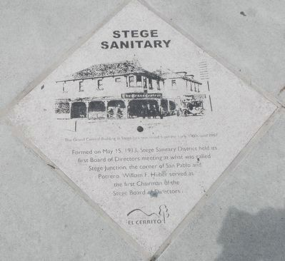 Stege Sanitary Marker image. Click for full size.