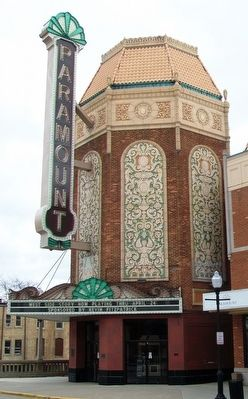 Paramount Theatre Entrance and Marquee Detail image. Click for full size.