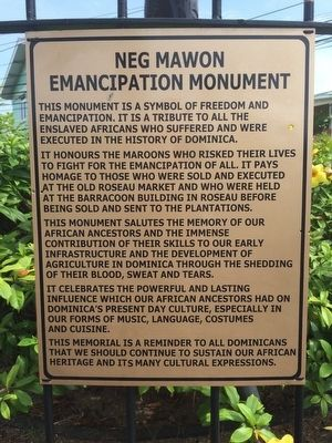 Neg Mawon Emancipation Monument Marker image. Click for full size.