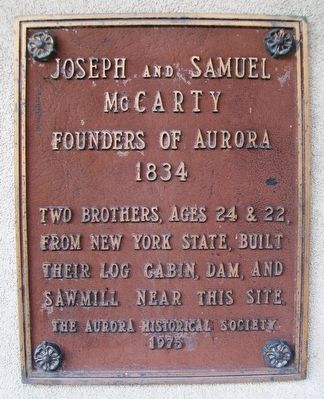 Joseph and Samuel McCarty Marker image. Click for full size.