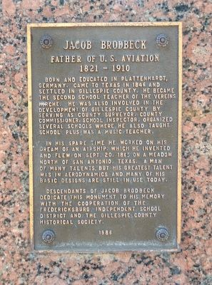 Jacob Brodbeck Marker image. Click for full size.