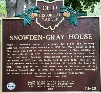 Snowden- Gray House Marker image. Click for full size.