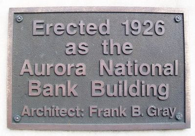 Aurora National Bank Building Marker image. Click for full size.