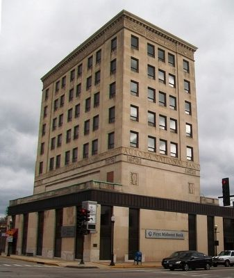 Aurora National Bank Building and Marker image. Click for full size.