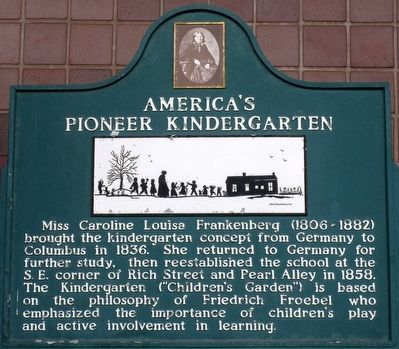 America's Pioneer Kindergarten Marker image. Click for full size.