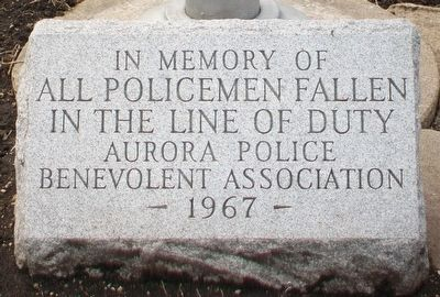 Aurora Police Memorial Marker image. Click for full size.