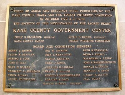 Kane County Government Center Marker image. Click for full size.