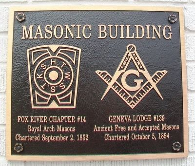 Masonic Building Marker image. Click for full size.