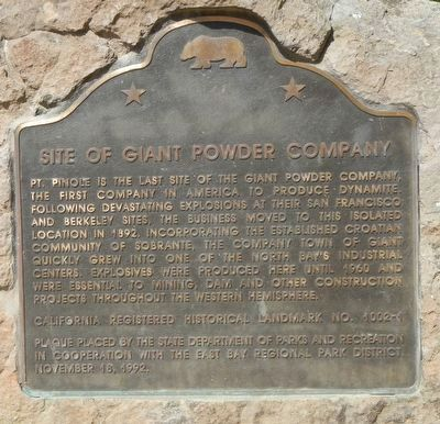 Site of Giant Powder Company Marker image. Click for full size.