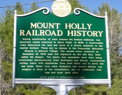 Mount Holly Railroad History Marker image. Click for full size.