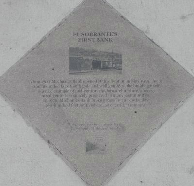 El Sobrante's First Bank Marker image. Click for full size.