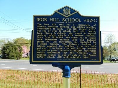 Iron Hill School #112-C Marker image. Click for full size.