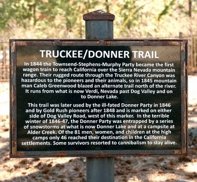 Truckee/Donner Trail Marker image. Click for full size.