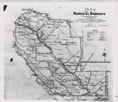 Rancho El Sobrante Map image. Click for full size.
