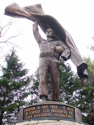 Kane County Veterans Memorial Statue image. Click for full size.