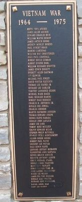 Kane County Veterans Memorial Honor Roll image. Click for full size.